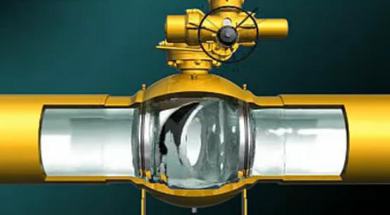 武汉三维机械产品演示动画:球形阀门机械动画演示工作原理