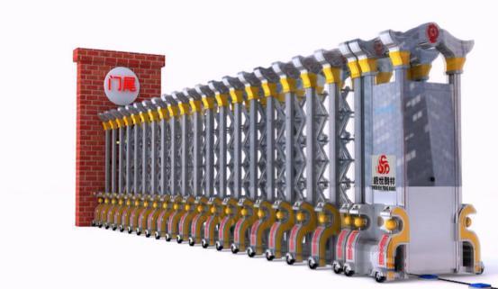 武汉3D产品机械动画制作:电动伸缩门演示安装宣传片