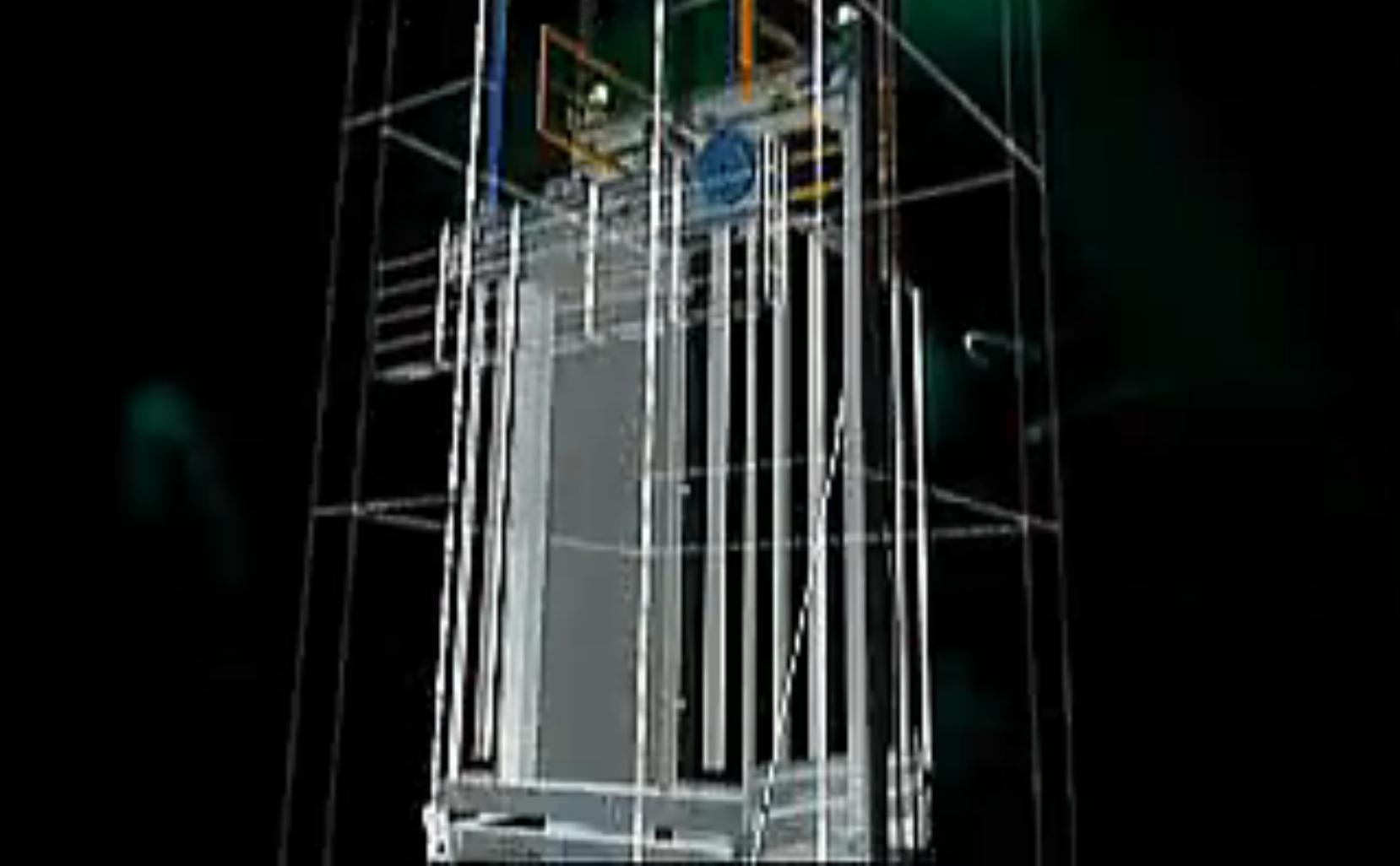 三维机械产品动画制作:电梯杜绝事故频发