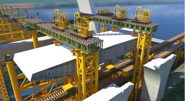 空心板梁吊装施工工程3d动画