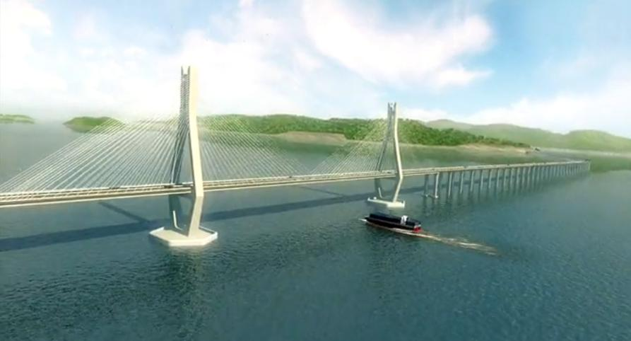 温州坐落在浙江省境内,是改革开放以来,国内沿海城市发展最为迅速的城市之一,尤其第三产业发展突出,贸易总额已超出省内平均水平,这次大桥工程的施工为当地的经济文化,教育的发展带来了空前的发展机遇。三维动画制作公司通过对大桥资料的研究分析,得到了最准确的桥梁施工动画执行方案。  该大桥在三维动画制作人员的精心设计下,使得桥梁似一条彩虹飞过大桥水道,画面壮观,宏大。  该桥路线全长约9.